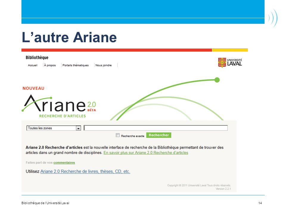 Lautre Ariane 14Bibliothèque de l Université Laval
