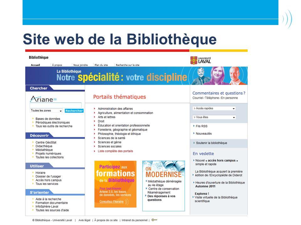 Site web de la Bibliothèque