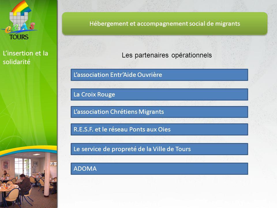 Linsertion et la solidarité Hébergement et accompagnement social de migrants Les partenaires opérationnels Lassociation EntrAide Ouvrière La Croix Rou