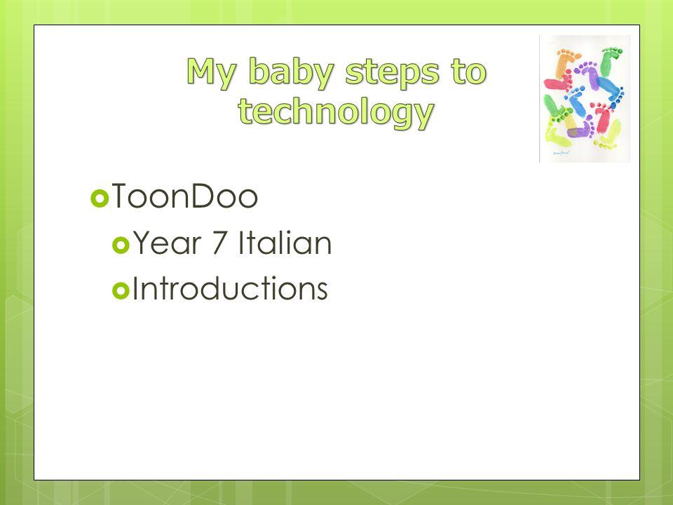 ToonDoo Year 7 Italian Introductions