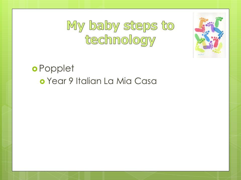 Popplet Year 9 Italian La Mia Casa