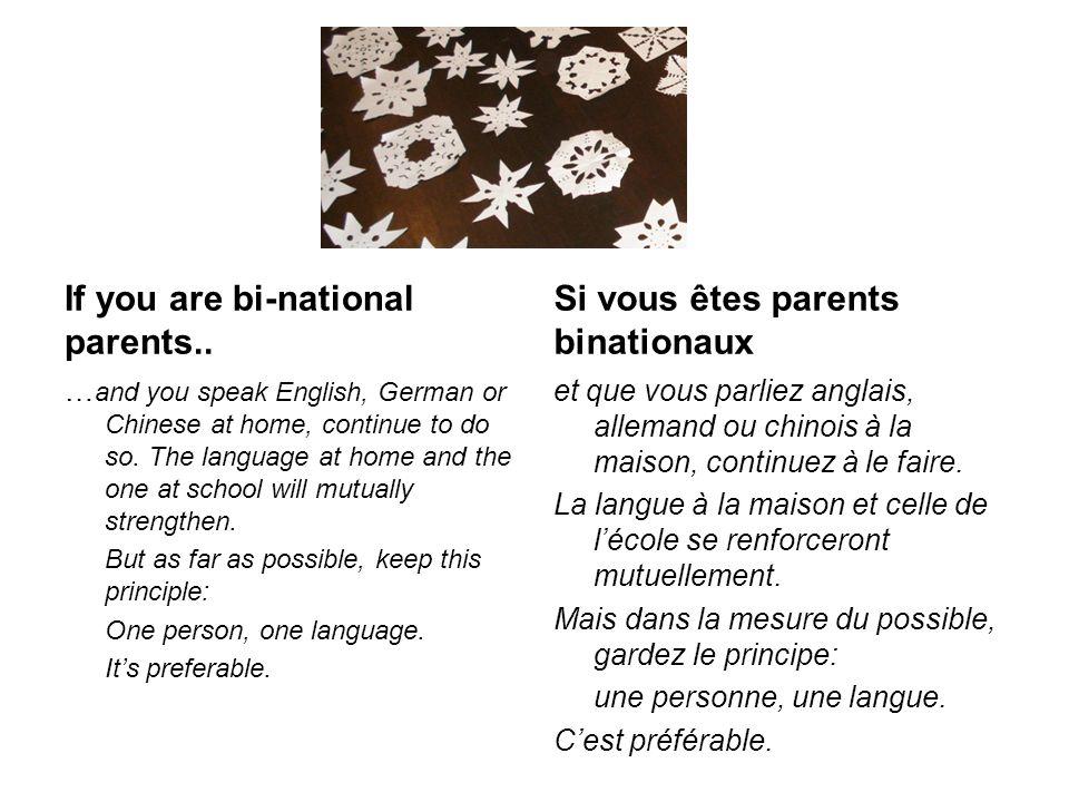 Francophone parents No worries.