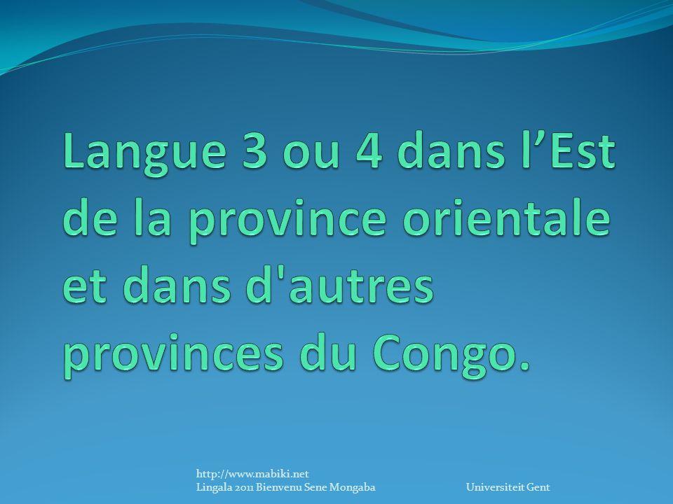 Le lingála courant : « ya » ou na Le lingála de Makanza : radical « a » précédé des préfixes des accords de classes.