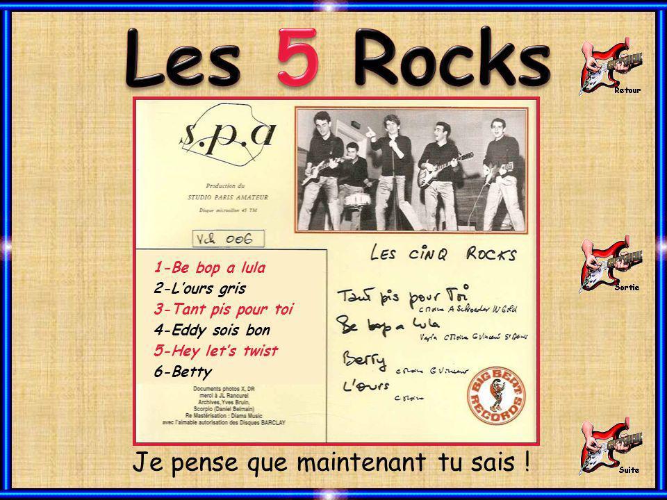 Connaissez-vous ce groupe des années 1960 - 1961 ? Toujours pas didées ? © Juillet 2012 – Joël – J.G. - Gogol