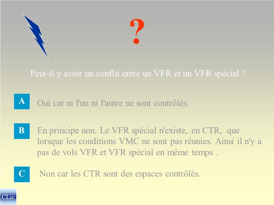 CONFLITS A ÉVITER Entre IFR et IFR Entre IFR et VFR Entre VFR et VFREntre IFR et VFR sp. ? CLic