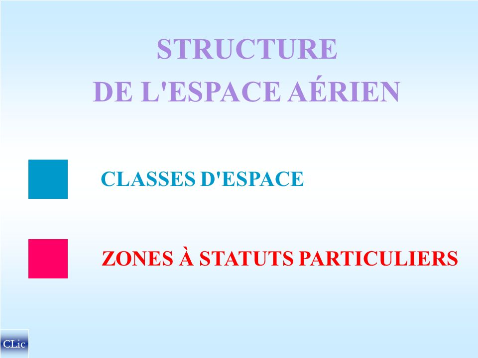 CIRCULATION AÉRIENNE STRUCTURE DE L ESPACE AÉRIEN CONDITIONS MÉTÉO DE VOL A VUE HAUTEURS MINIMALES DE SURVOL CLic