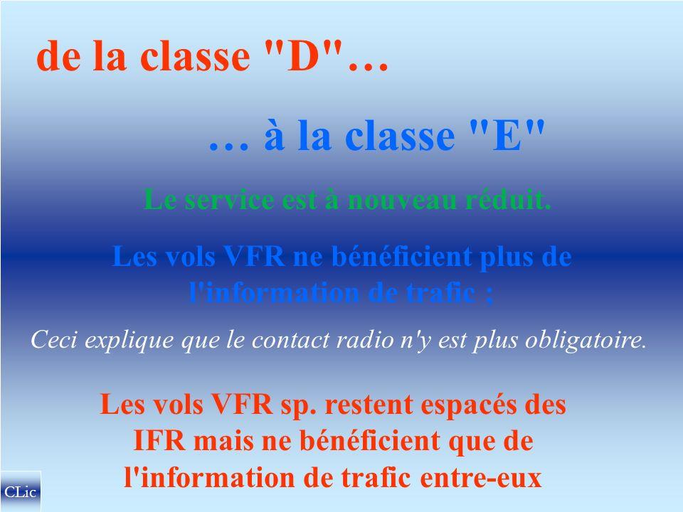 MONFORT 2500 FL 75 CLASSE D D Vols VFR ? Oui ! ( avec radio et clairance !) IFR VFR IFR/IFR IFR/VFR Sp. VFR/IFR IFR/VFR VFR Sp. /IFR CTR CNVV SFC 2500