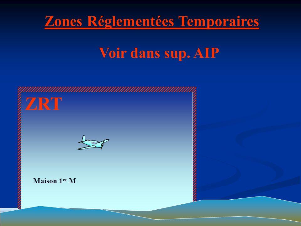 ZIT Zones Interdites Temporaires Pénétration interdite Rayon de 05 Kms Hauteur sol de 1000mètres CLic