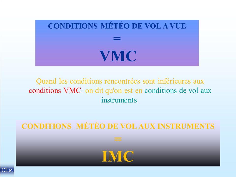 CONDITIONS MÉTÉOROLOGIQUES DE VOL A VUE CLic