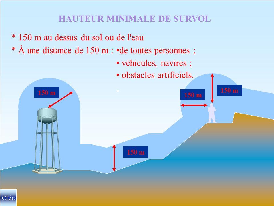 HAUTEURS MINIMALES DE SURVOL CLic