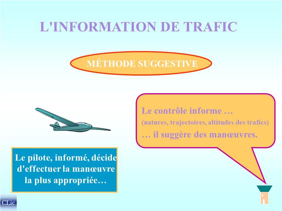 L'ESPACEMENT DES TRAFICS MÉTHODE DIRECTIVE SÉPARATIONS NORMALISEES = Le contrôle donne des clairances (autorisations, instructions, relatives au cap,