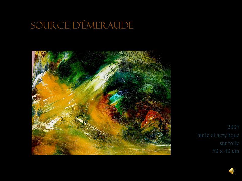 Toundra soleil 2010 acrylique sur toile 50 x 40 cm