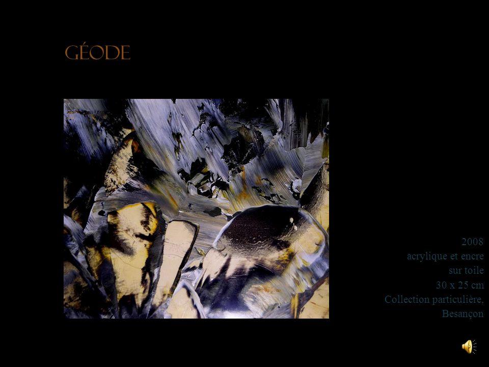 Eaux satinées 2008 acrylique sur toile 70 x 50 cm Collection particulière