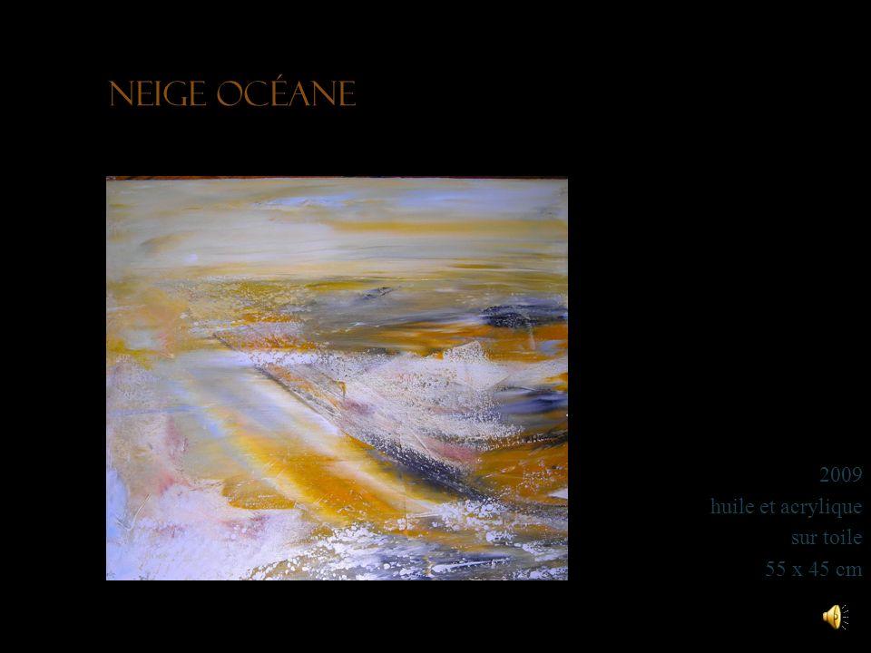 Montagnes enneigées 2012 acrylique sur toile 80 x 65 cm