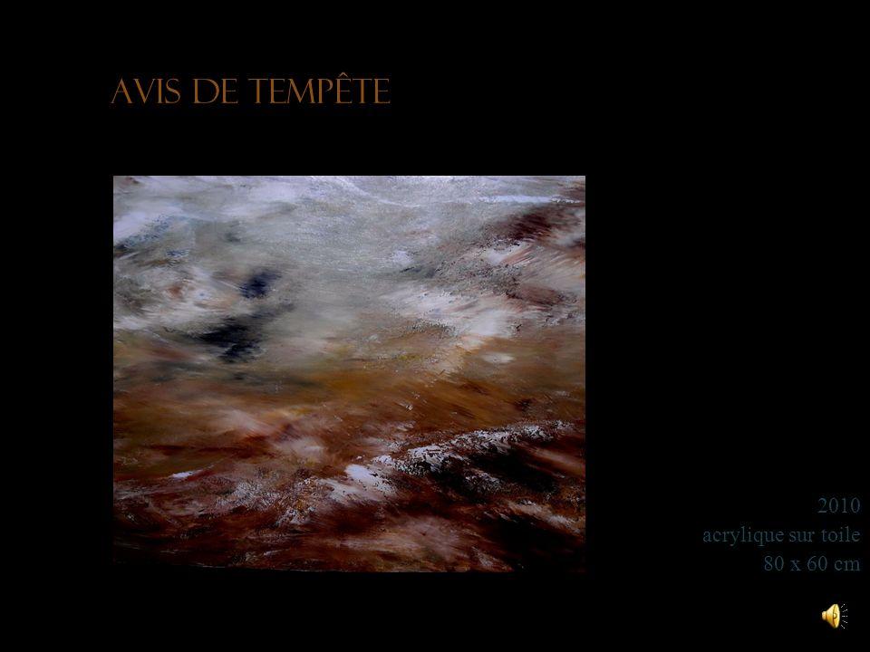 Tempête déquinoxe 2011 acrylique sur toile 80 x 65 cm