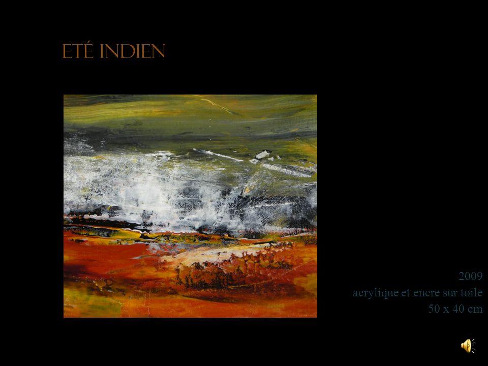 Brume matinale 2009 acrylique et encre sur toile 40 x 30 cm Collection particulière
