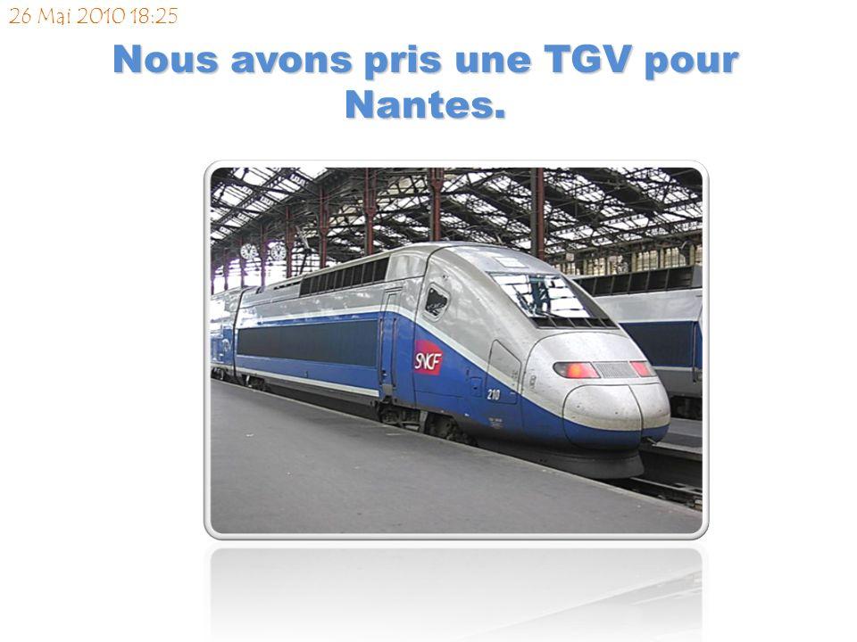 Nous avons pris un TGV pour Paris. Nous avons passé la nuit dans l hôtel Le Mathurin. 14 Juin 2010