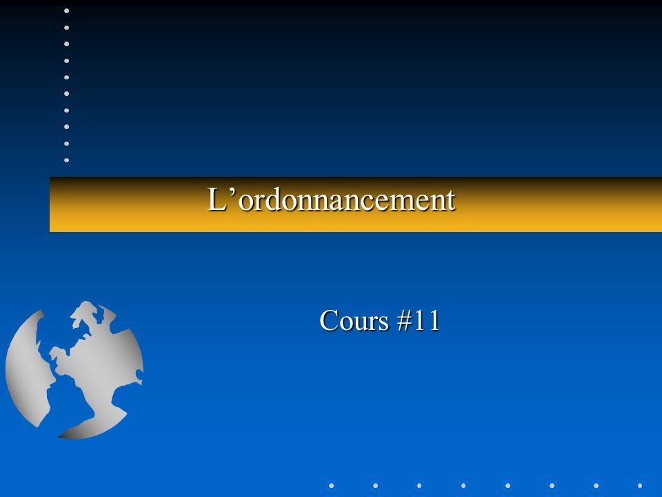 Lordonnancement Cours #11