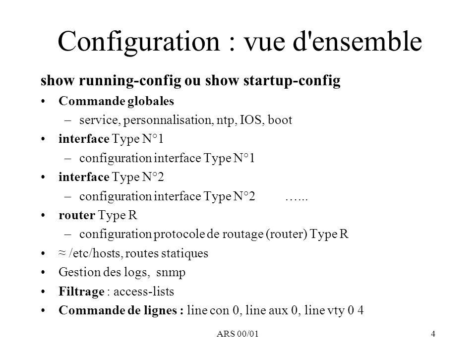 ARS 00/015 Initialisation Boot du routeur ….