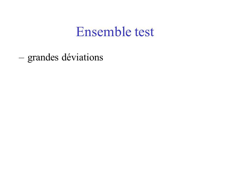 Ensemble test –grandes déviations