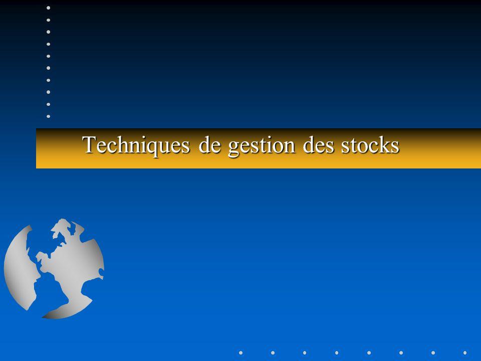Techniques de gestion des stocks