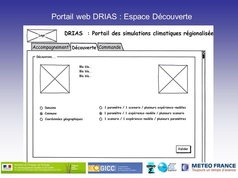 Portail web DRIAS : Espace Découverte