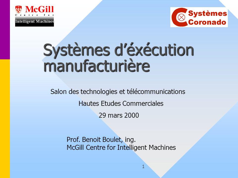 Benoit Boulet, 29 mars, 200012 But ultime dun MES Optimiser les profits en temps réel sur un horizon dune minute à une semaine!Optimiser les profits en temps réel sur un horizon dune minute à une semaine.