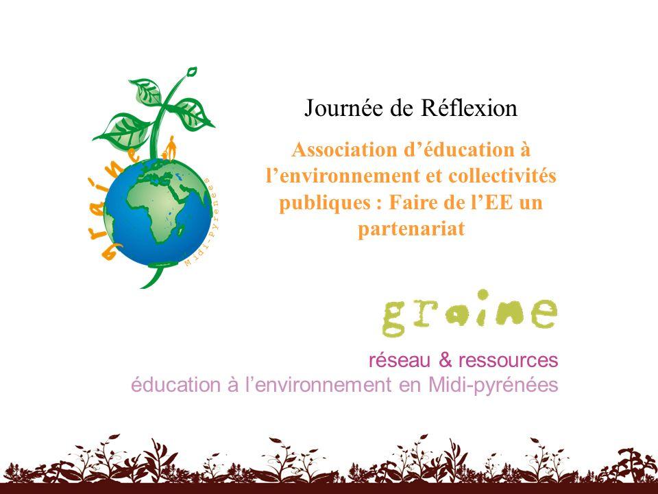 réseau & ressources éducation à lenvironnement en Midi-pyrénées Journée de Réflexion Association déducation à lenvironnement et collectivités publique