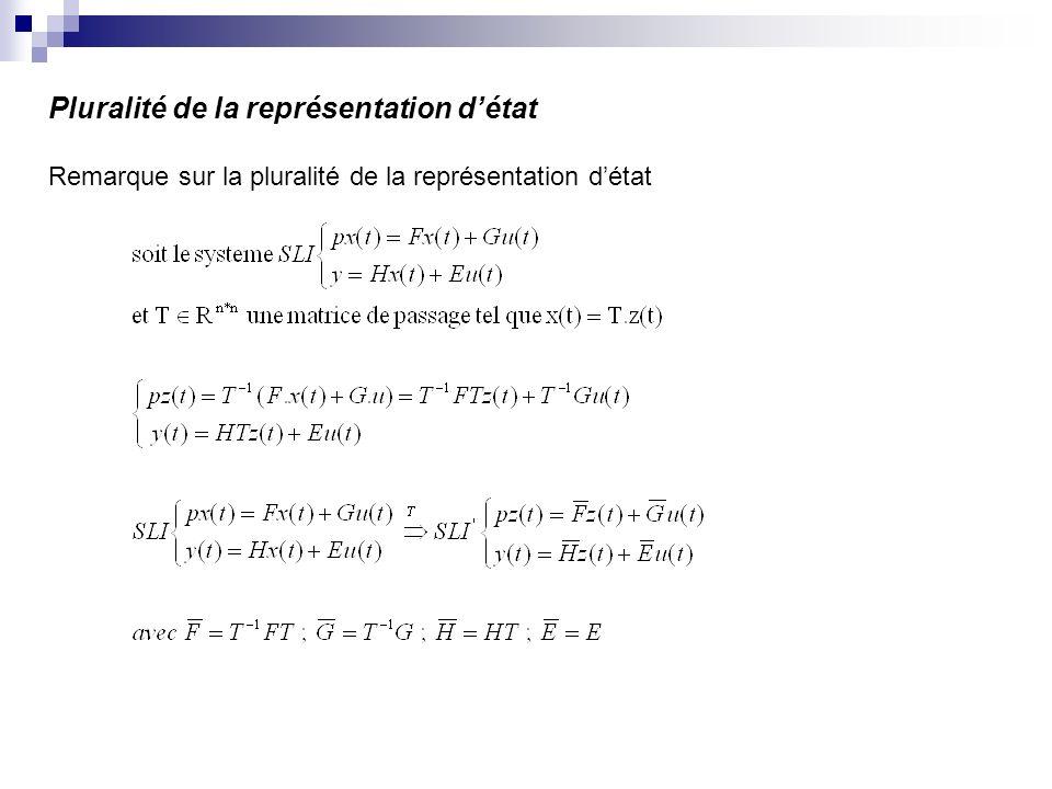 Pluralité de la représentation détat Remarque sur la pluralité de la représentation détat