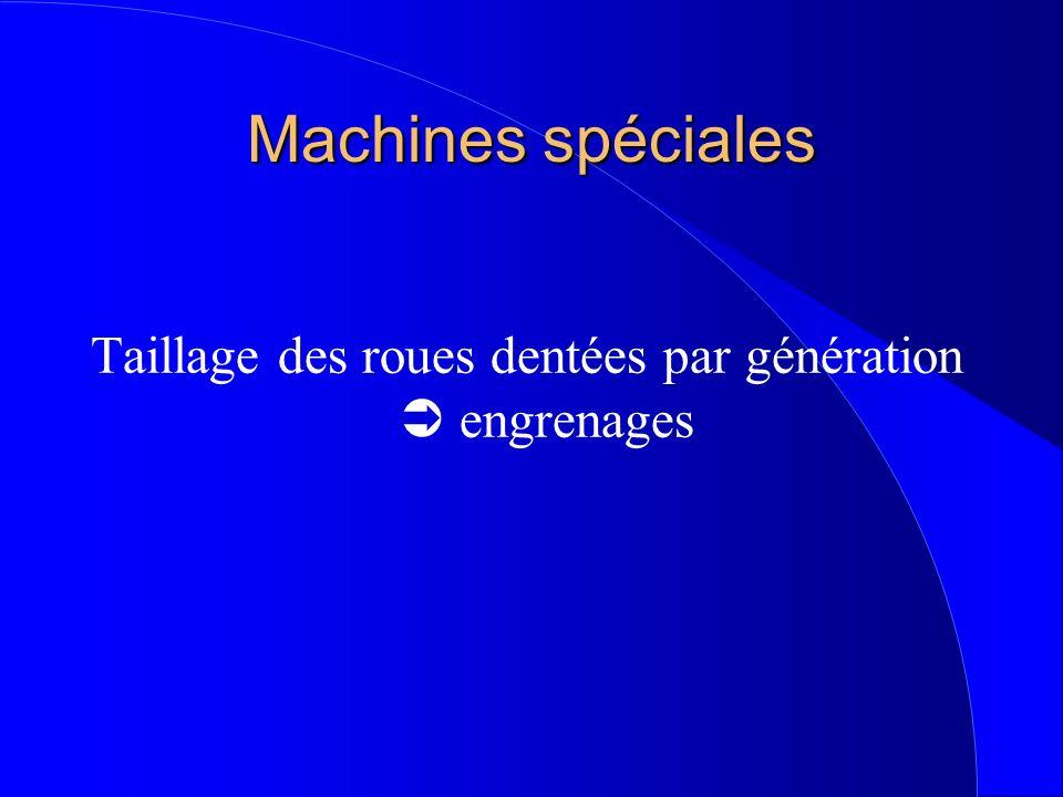 Machines spéciales Taillage des roues dentées par génération engrenages