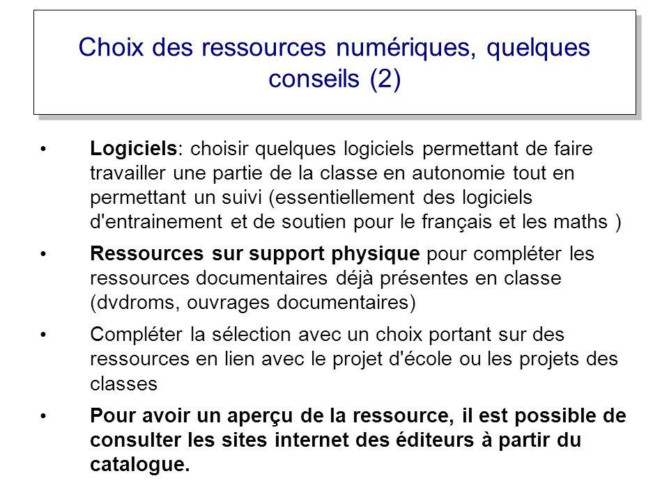 Logiciels: choisir quelques logiciels permettant de faire travailler une partie de la classe en autonomie tout en permettant un suivi (essentiellement