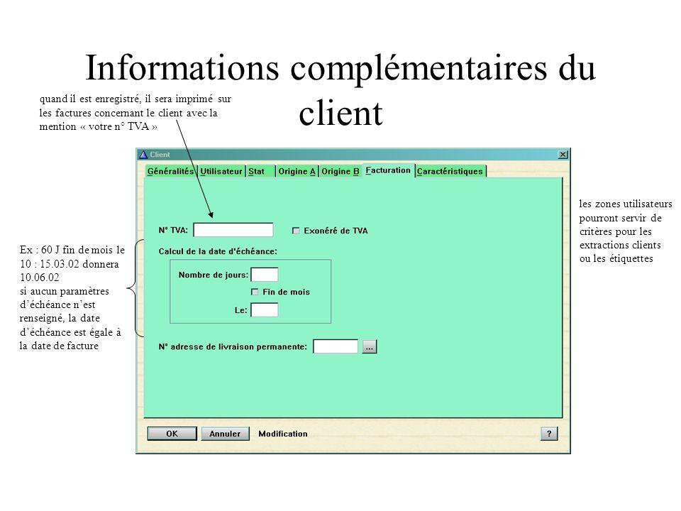 Fiche statistique calculé automatiquement Les données statistiques du client sont automatiquement alimentées par les factures issues des commandes et des avoirs provenant des retours, les réponses aux jeux.