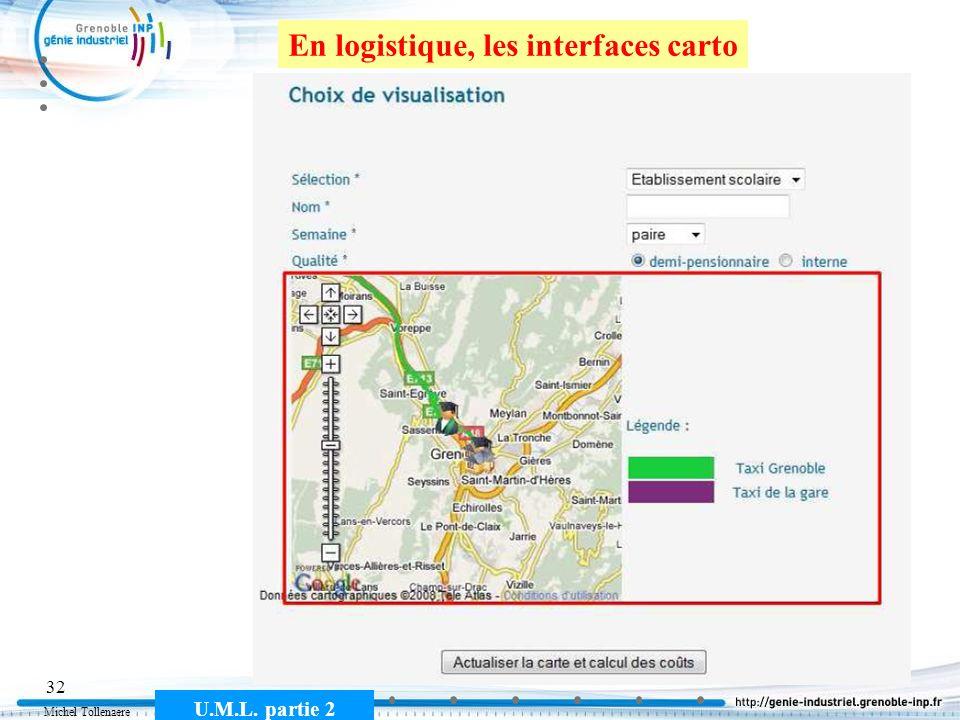 Michel Tollenaere U.M.L. partie 2 32 En logistique, les interfaces carto