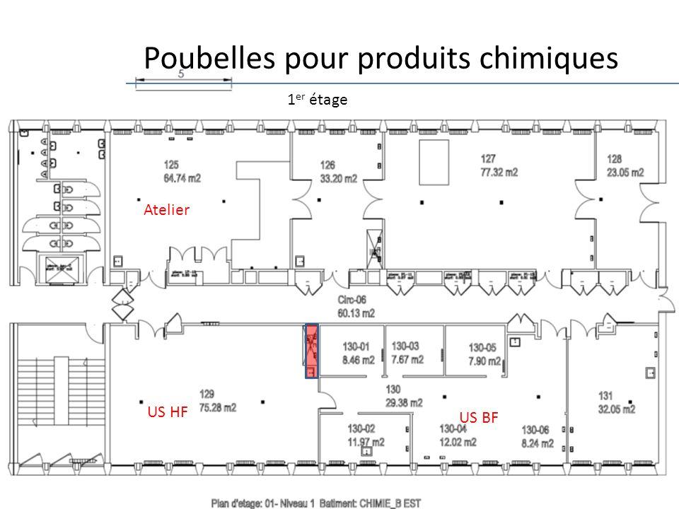 17 1 er étage Poubelles pour produits chimiques Atelier US HF US BF