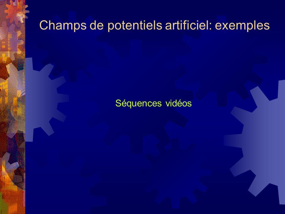 Champs de potentiels artificiel: exemples Séquences vidéos