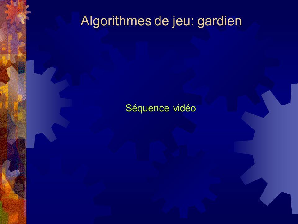 Algorithmes de jeu: gardien Séquence vidéo