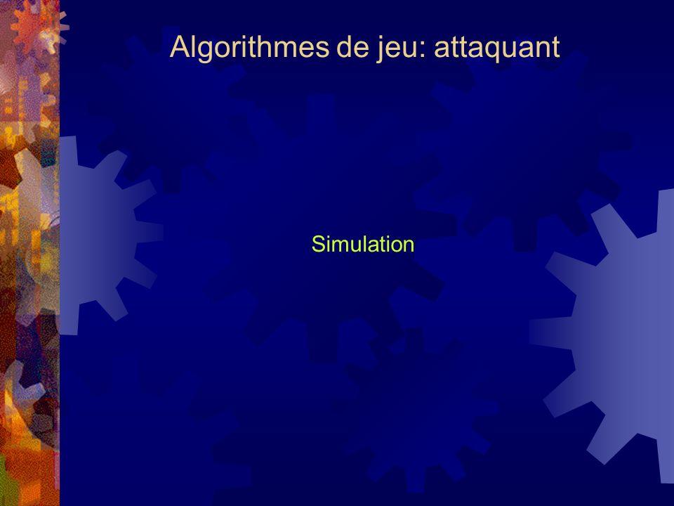 Algorithmes de jeu: attaquant Simulation