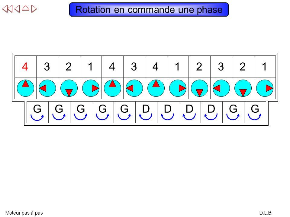 143214321432 D.L.B. Rotation permanente à gauche en commande une phase Moteur pas à pas GGGGGGGGGGG