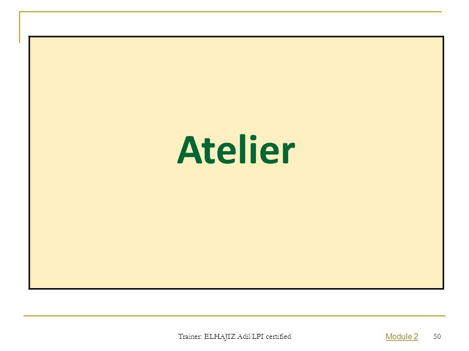 Atelier Trainer: ELHAJIZ Adil LPI certified Module 2 50