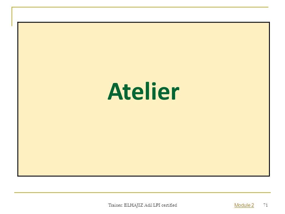 Atelier Trainer: ELHAJIZ Adil LPI certified Module 2 71