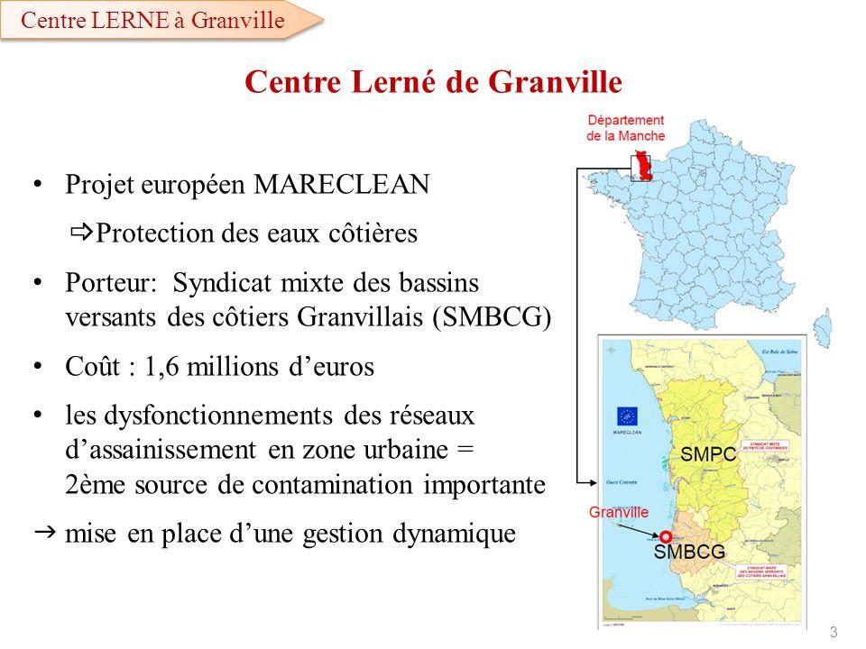 Centre Lerné de Granville Projet européen MARECLEAN Protection des eaux côtières Porteur: Syndicat mixte des bassins versants des côtiers Granvillais