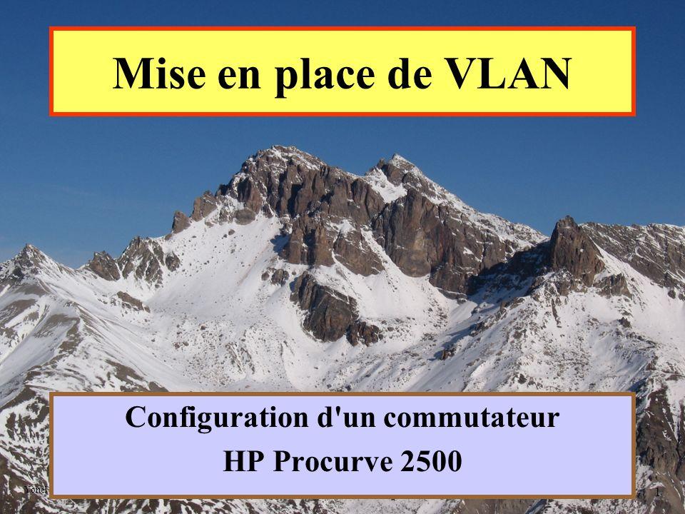 Yonel GRUSSON 12 System Name : Nom du système afin de le reconnaître à l aide du prompt System contact : Nom de l administrateur Manager password : Mot de passe de l administrateur Logon default : Positionnement du système au démarrage (CLI ou Menu) Community name : Nom de la communauté utilisée par le protocole SNMP (Simple Network Management Protocol) Configuration initiale