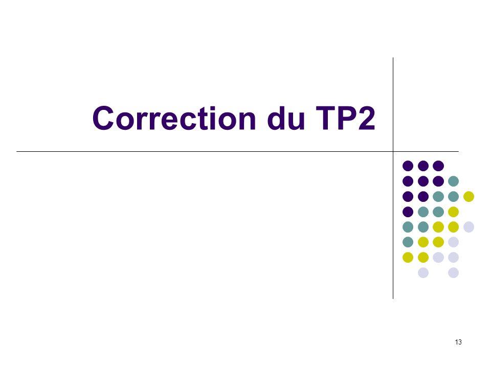 13 Correction du TP2