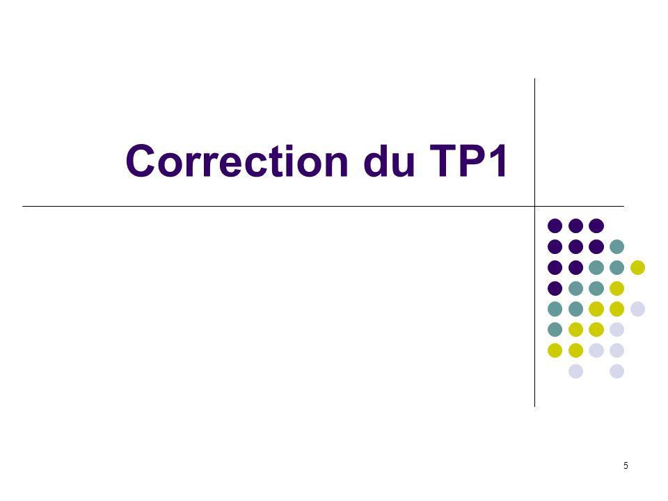 5 Correction du TP1