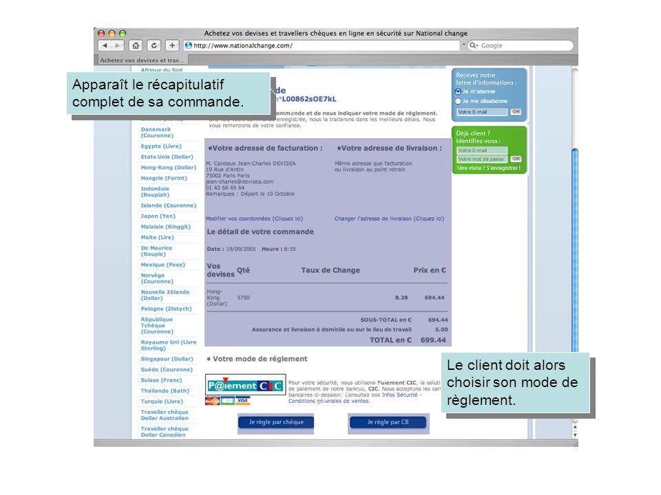 Exemple dun règlement par CB Le client arrive sur le serveur sécurisé du CIC.