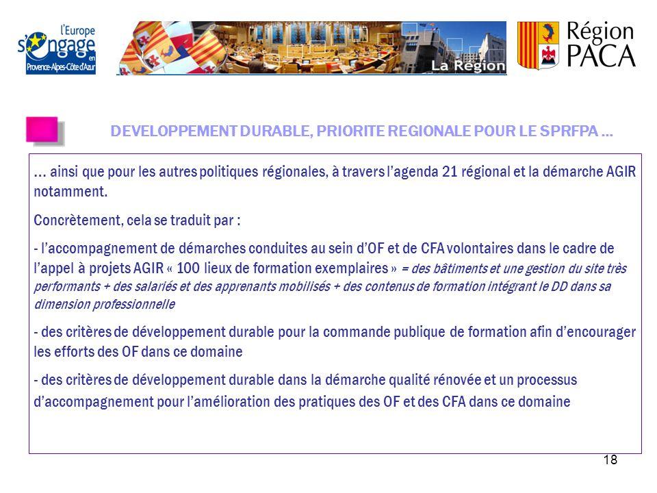 17 La rénovation de la Démarche Qualité régionale a été votée le 08-02-10. Le nouveau référentiel « Qualité RE.S.E.A.U. » (Responsabilité Sociale et E