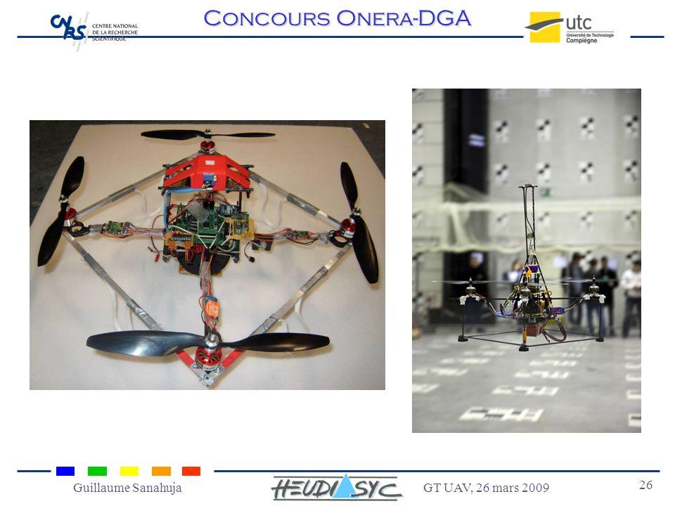 GT UAV, 26 mars 2009 26 Guillaume Sanahuja Concours Onera-DGA