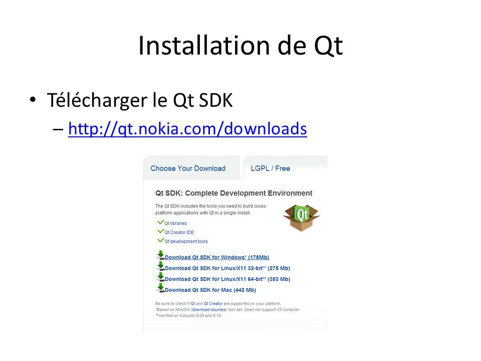 Installer le Qt SDK 2009.03 – Qt Creator – Qt 4.5.2 – MinGW 5.1.4