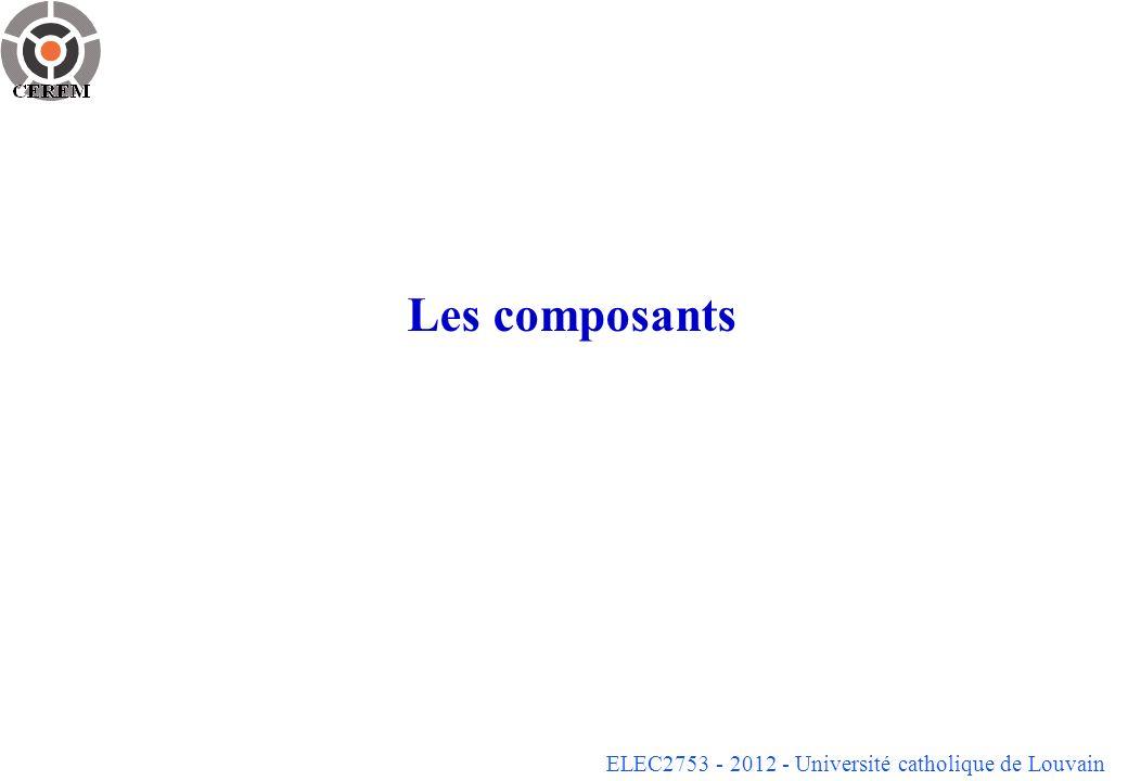 ELEC2753 - 2012 - Université catholique de Louvain Les composants