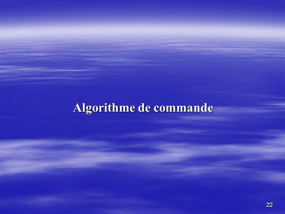 22 Algorithme de commande